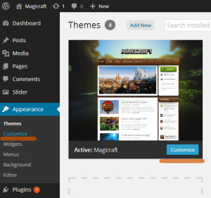 Theme customizer