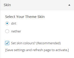Skins Settings