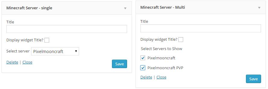 Online status widgets