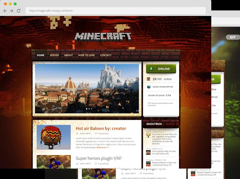 WEBMagicraft Wordpress Theme For Minecraft Servers